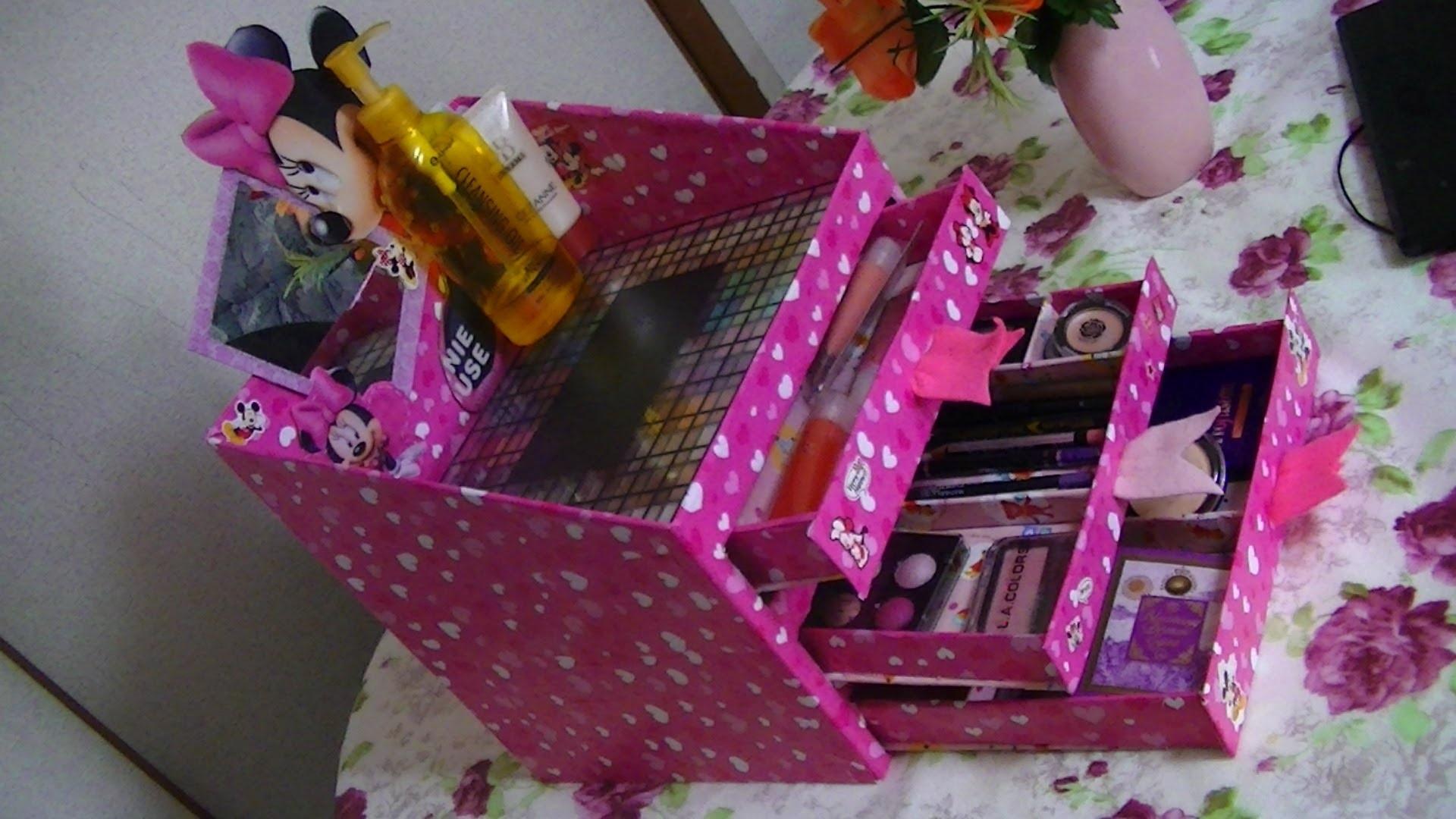 Как сделать коробочку для косметики