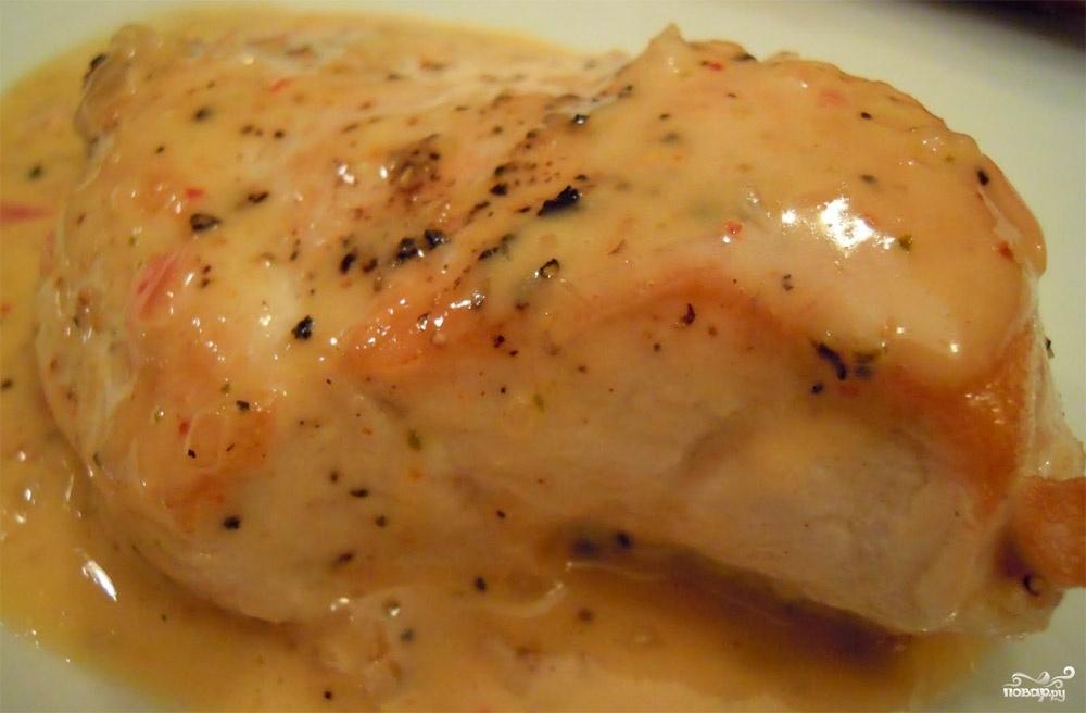 Рецепт куриная грудка в сметанном соусе с пошагово