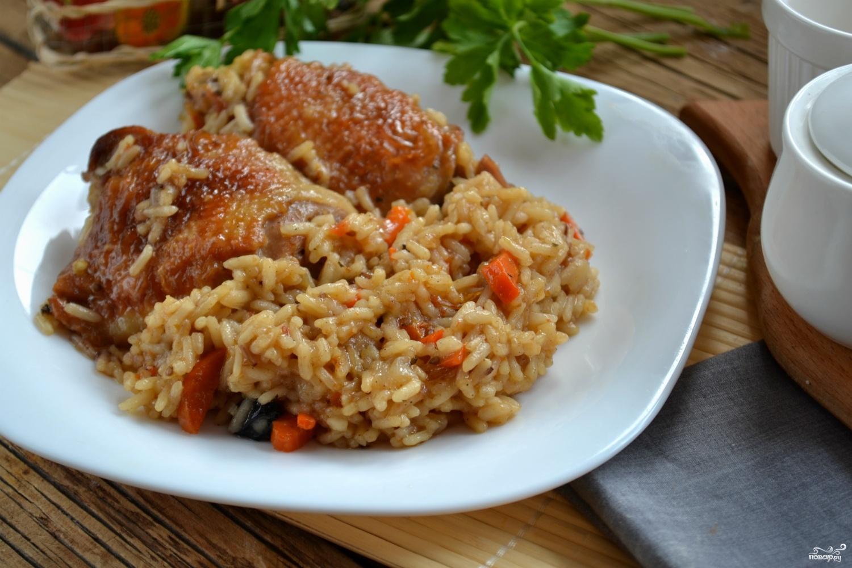 Индейка с рисом в духовке рецепт с фото пошагово
