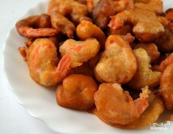 Креветки в кляре рецепт пошаговый