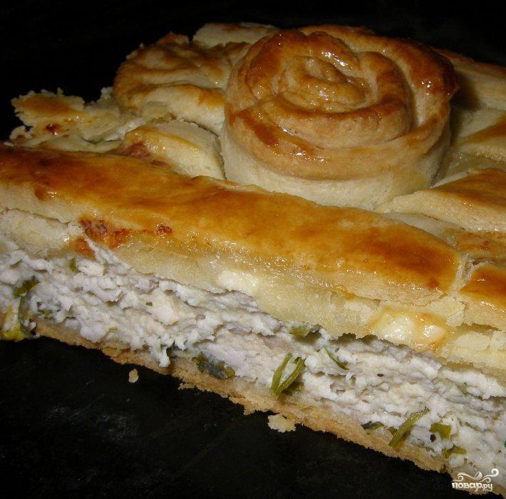 Пирог из песочного теста с курицей рецепт