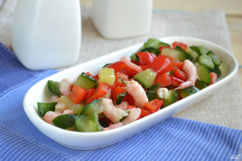 Постные салаты с креветкамиы с фото