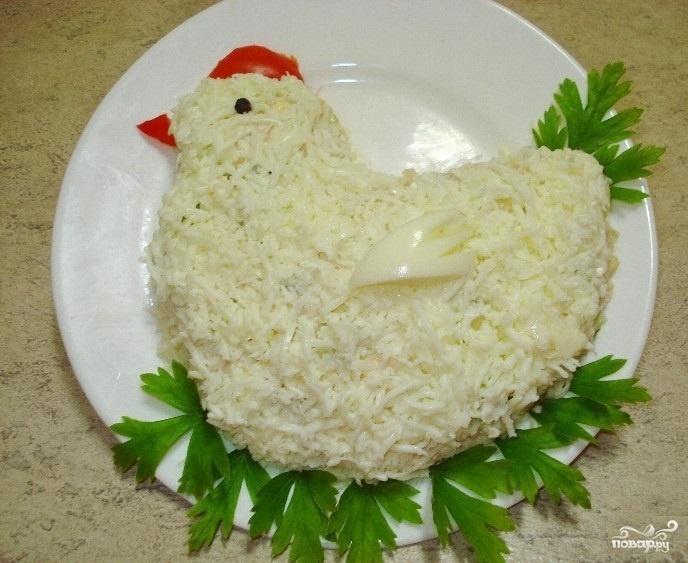 Салат курочка ряба рецепт с слоями