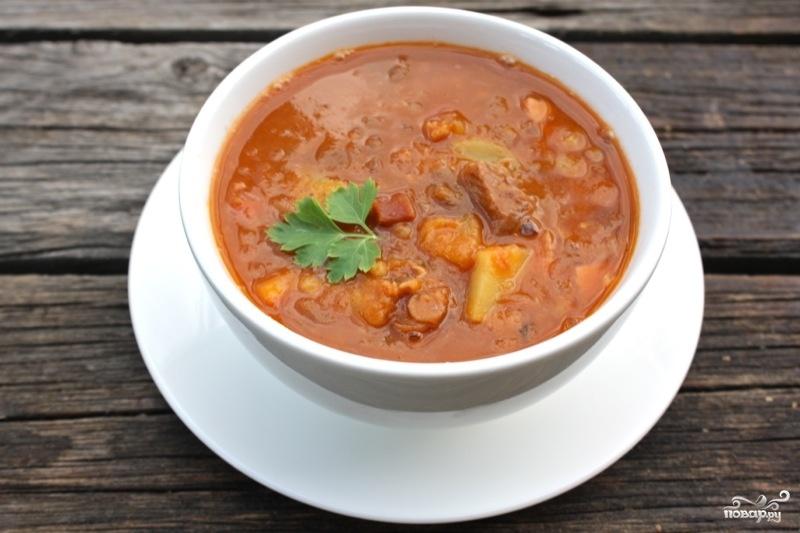 Суп с копченостямиы приготовления