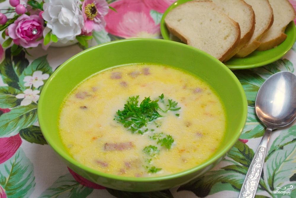 Сырный суп с плавленным сыром и курицей пошаговый рецепт с