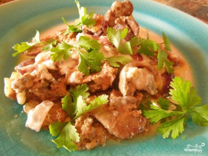 Рецепты из куриной печени в мультиваркеы с фото