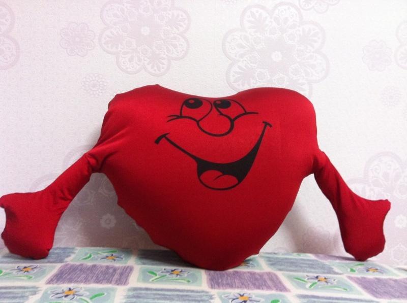 Подушки сердечками своими руками