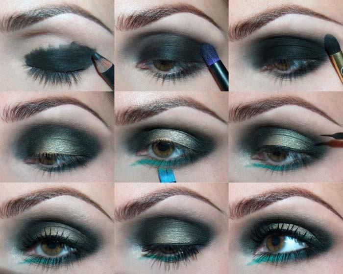 Лёгкий макияж для голубых глаз пошагово