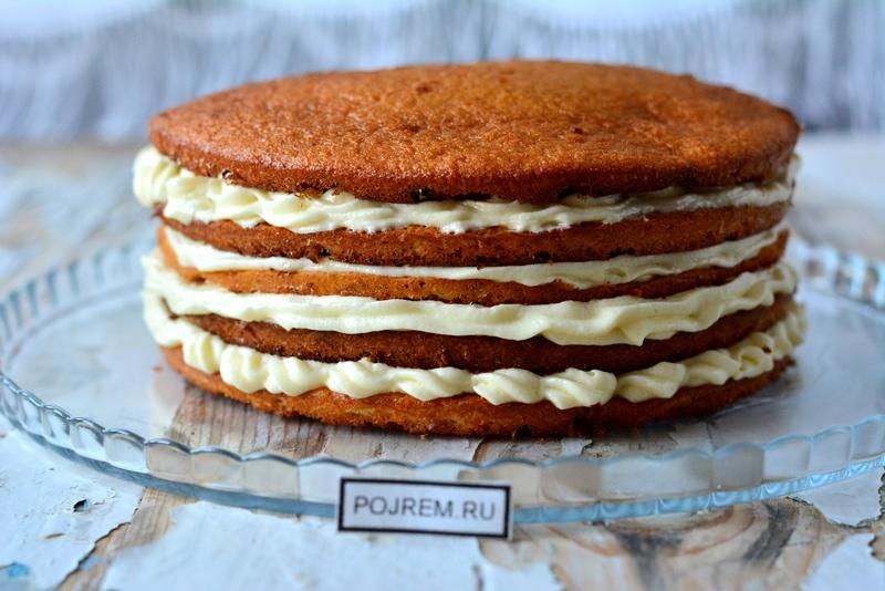 Корж для торта простой шоколадный