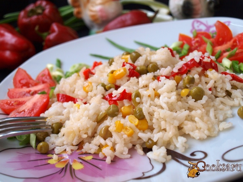 Рис с овощами по мексикански рецепт с пошагово