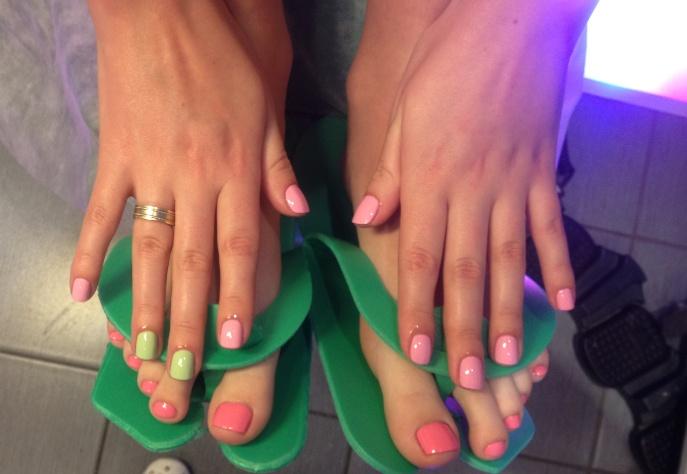 Фото как модно красить ногти