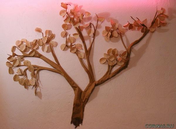 Как сделать декоративные деревья из бумаги