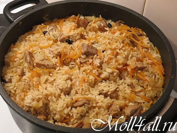 Плов по-узбекски из свинины пошаговый рецепт с фото