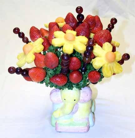 Букеты из фруктов своими руками для детей