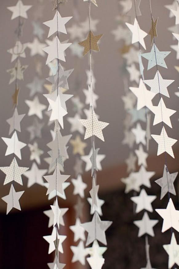 Дождик на новый год из бумаги