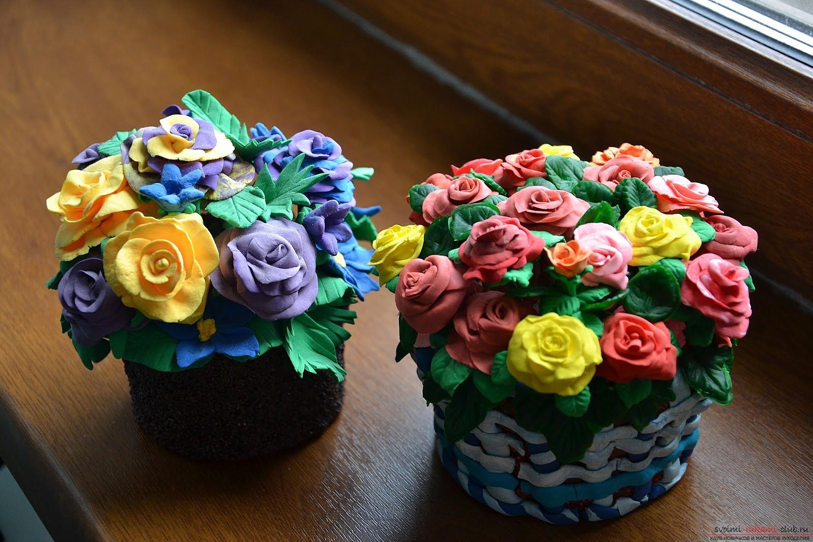 Поделки розы из пластилина