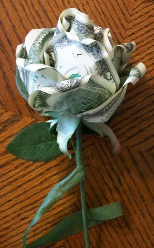 Букет из денег мастер класс с