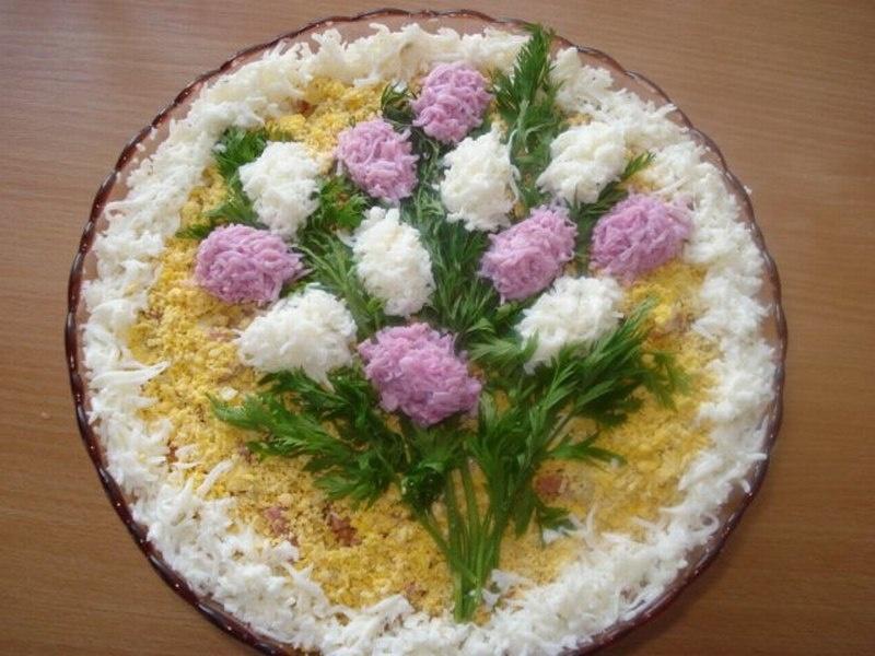 Рецепт красивых и вкусных салатов с пошагово