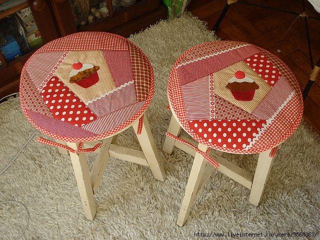 Чехлы на круглые стулья своими руками