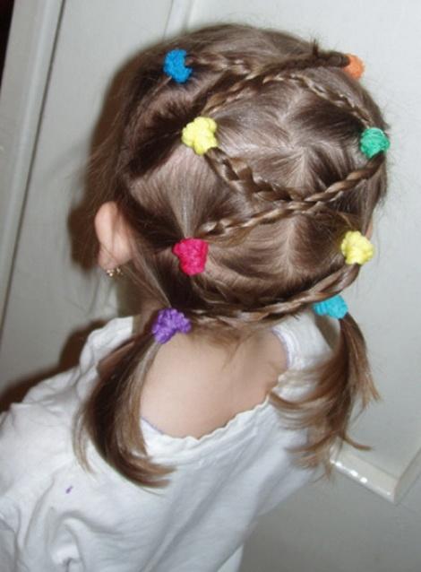 Причёски для маленьких девочек от 2-3 лет