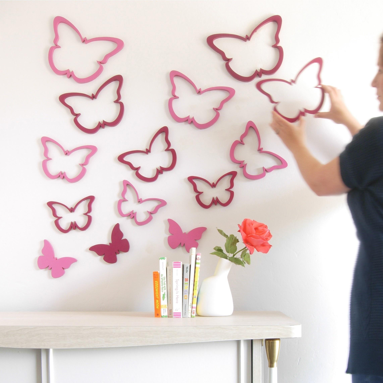Как сделать декор бабочками