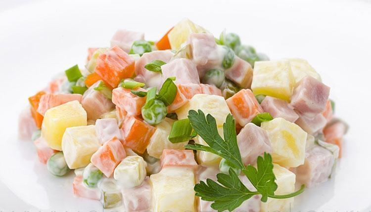 Как сделать салат оливье классический
