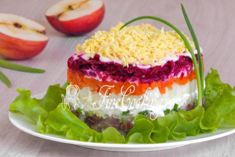 Салат под шубой с сыром рецепт пошагово