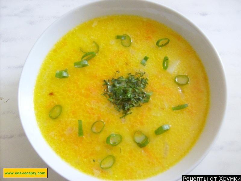 Луковый суп из плавленного сыра
