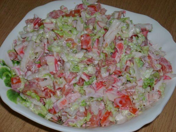 Салат из крабовых палочек сыра и помидор рецепт очень вкусный