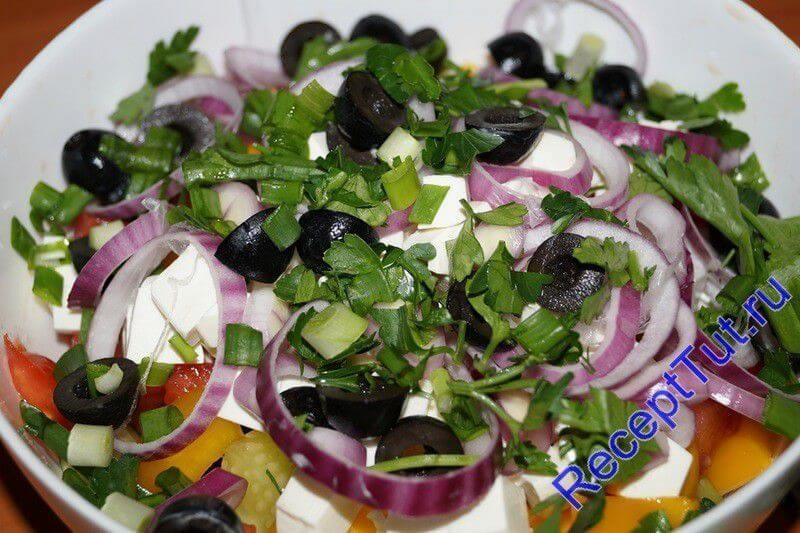 Рецепты салата греческий пошаговый с