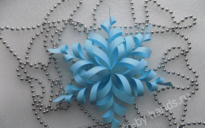 Новогодние снежинки объёмные из бумаги своими руками схемы шаблоны