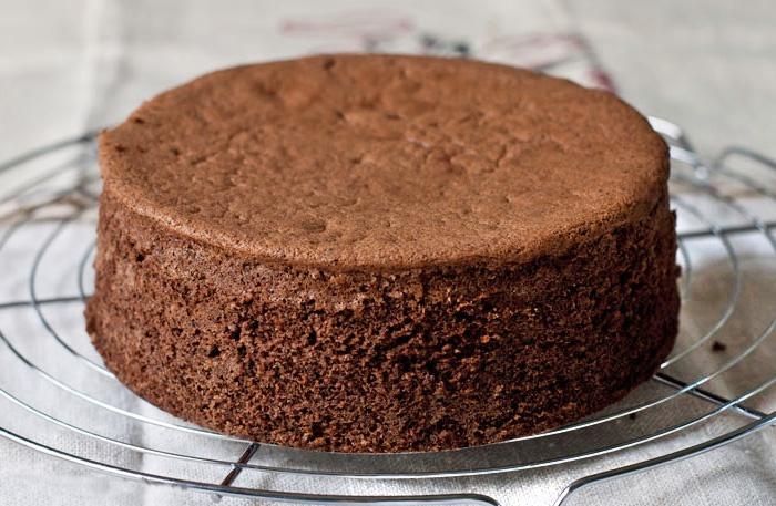 Классический шоколадный бисквит рецепт с фото пошагово