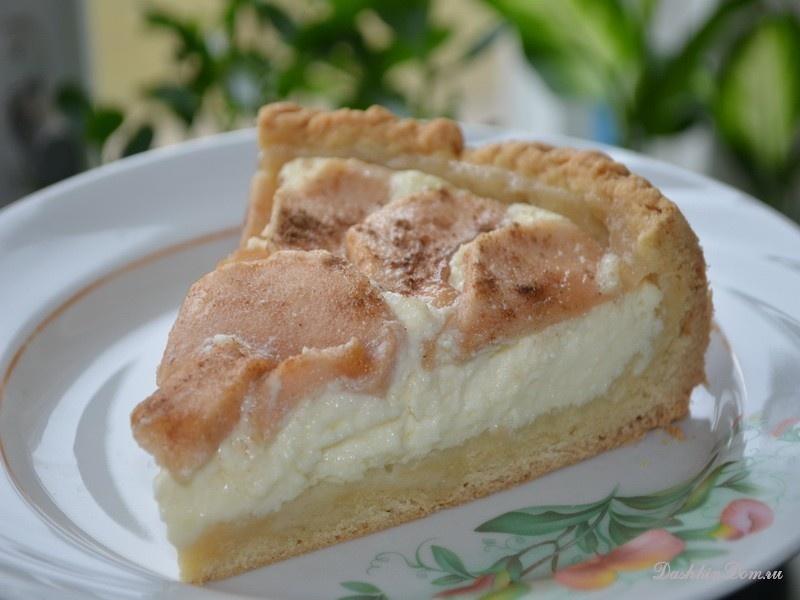 Творожный пирог с яблоками рецепт с фото пошагово в духовке