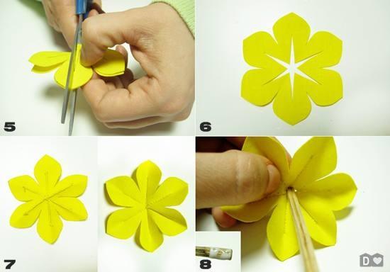 Как сделать цветок из простой бумаги