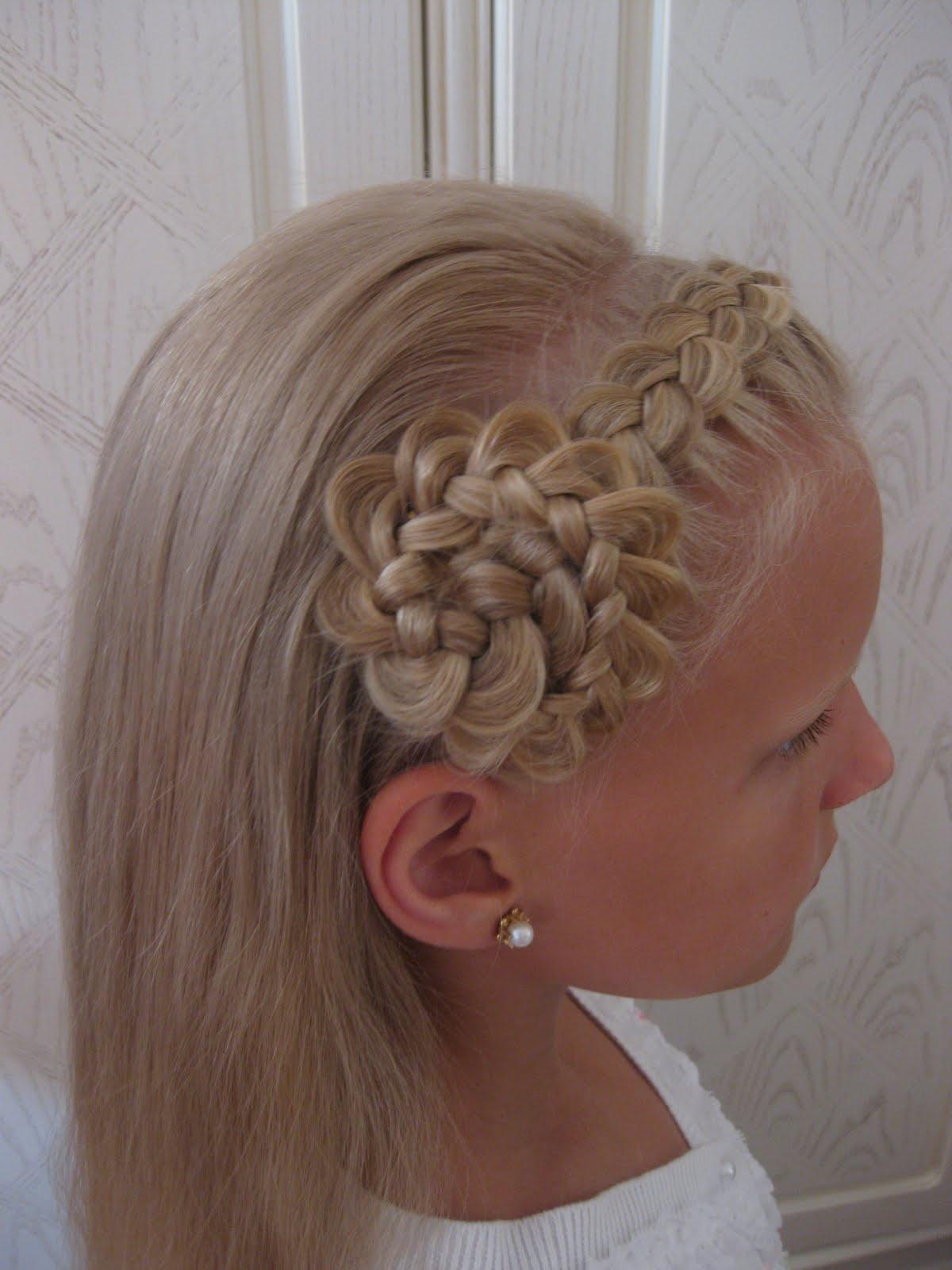 Как сделать прическу для девочки на длинные волосы