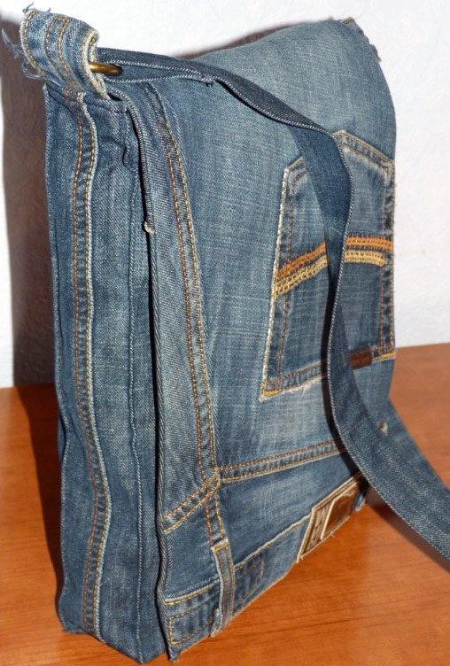 Сшить мужскую сумку своими руками из старых джинсов своими руками