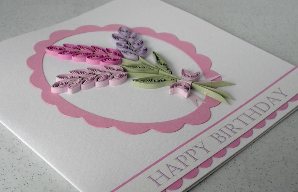 Открытка квиллинг бабушке на день рождения