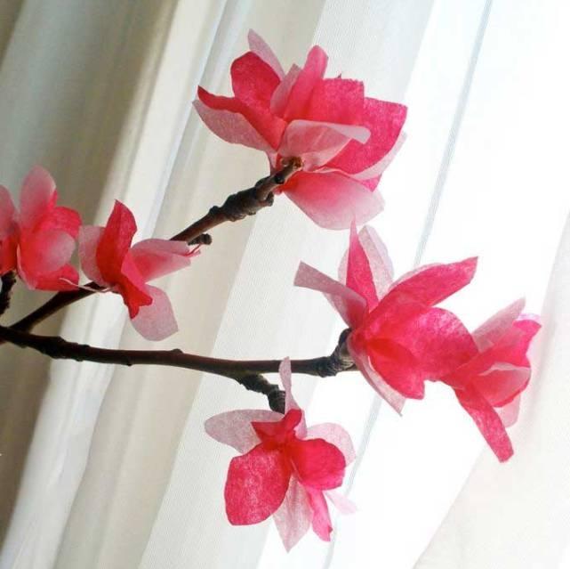 Как сделать цветок сакуры своими руками