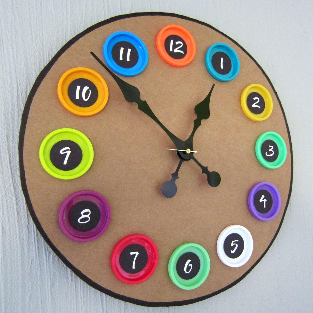 Часы для кухни из подручных материалов