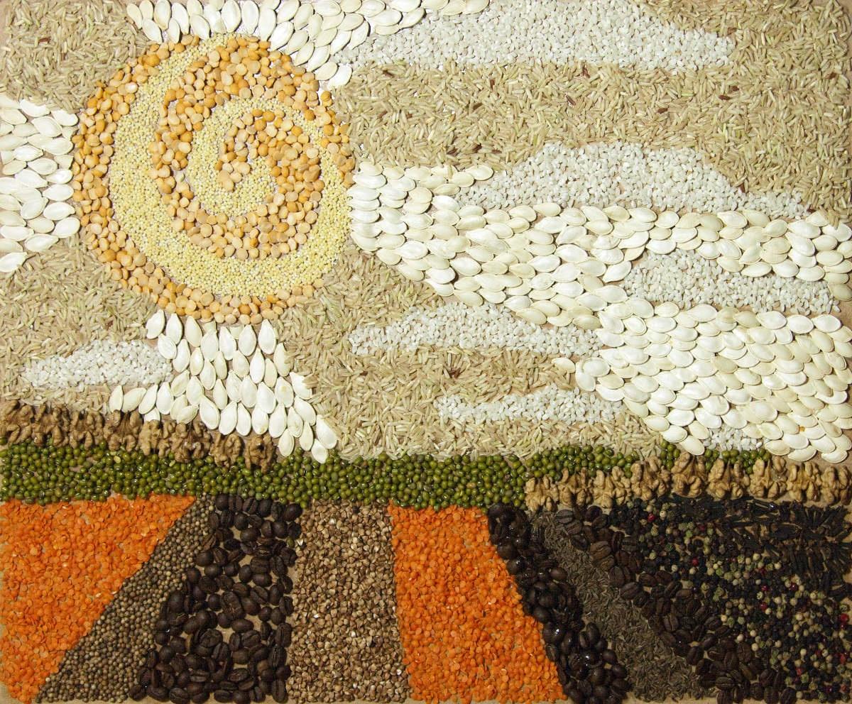 Поделки из зерновых культур