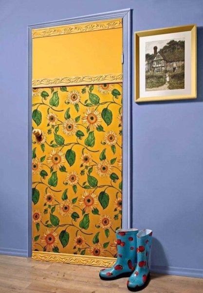 Декоративное оформление дверей своими руками