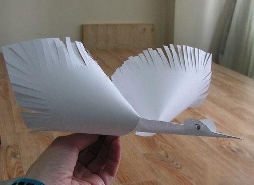 Поделка журавль своими руками из бумаги