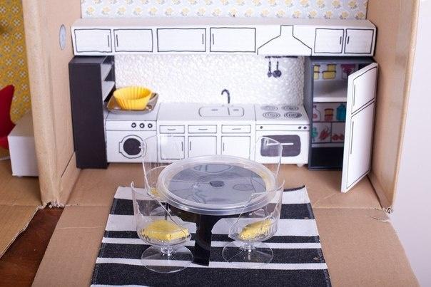 Как сделать для куклы кухня