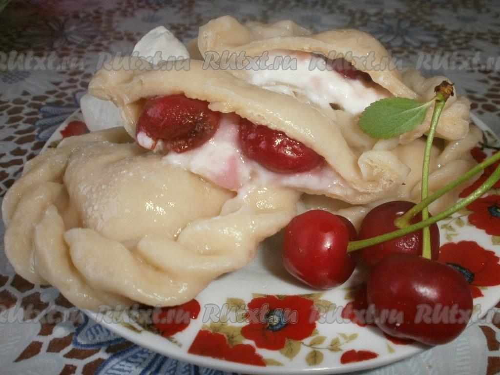 Как делать вареники с вишней рецепт с пошагово