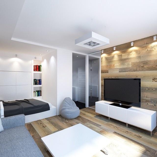Дизайн однокомнатной квартиры 20 кв.м в современном стиле