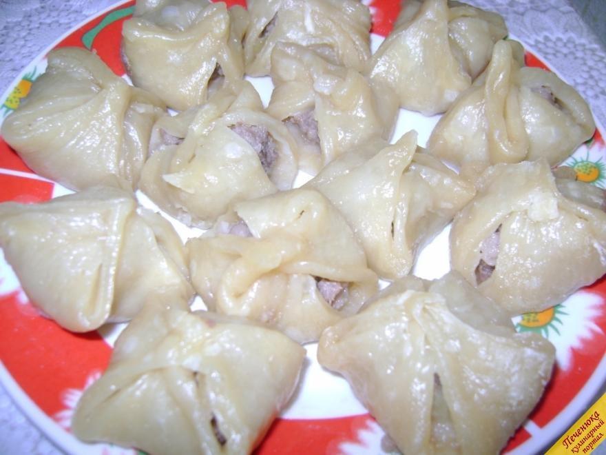 Манты с картошкой и мясом пошаговый с рецепт пошаговый
