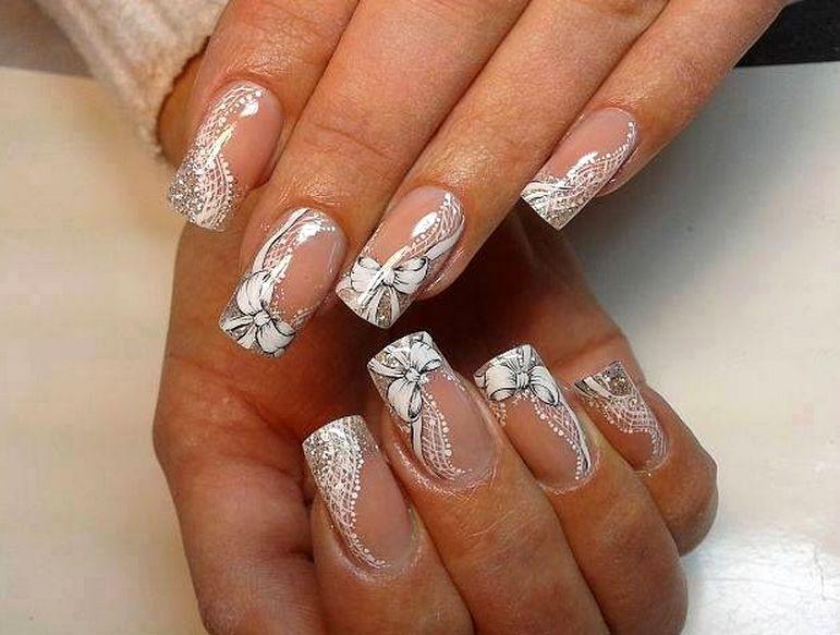 Ногти френч свадебный