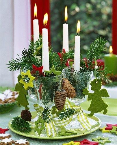 Свечи с зеленым декором - карточка от пользователя Anastasia Shumakova в Яндекс.Коллекциях