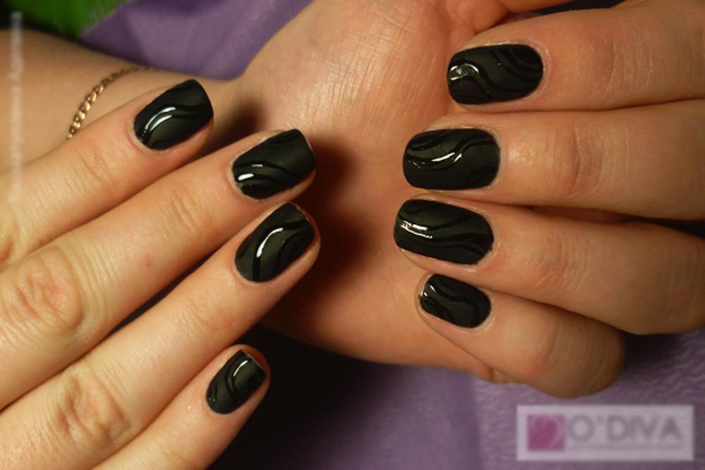 Матовое покрытие ногтей гель лаком