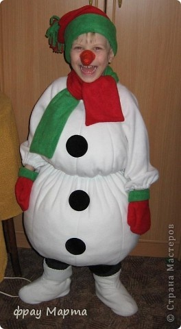Своими руками костюм снеговика